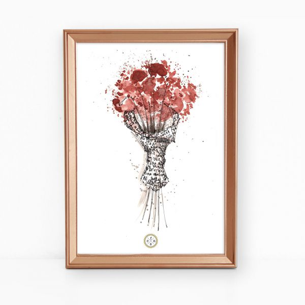 Artprint - Red flowers