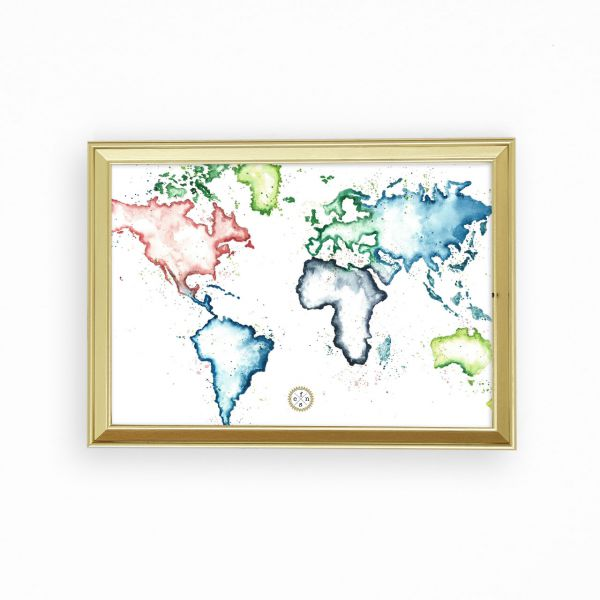 Artprint - Map of the world