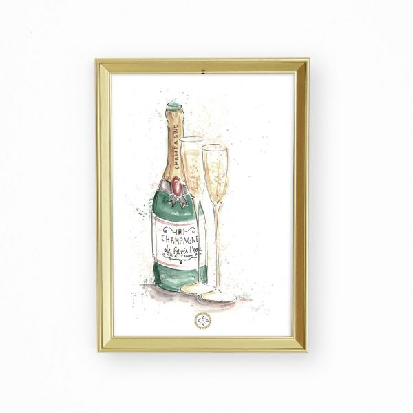 Artprint - Champagne bottle