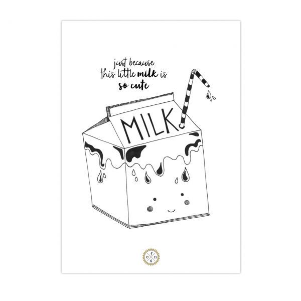 Postkarte - Milk bag