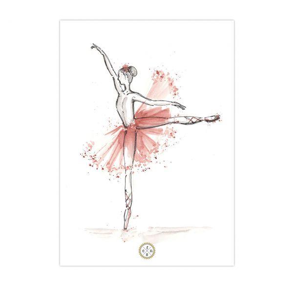 Postkarte - Ballerina