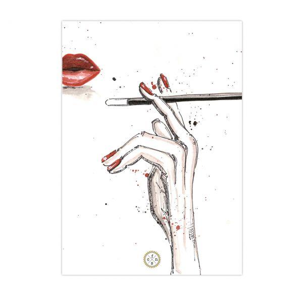 Postkarte - Smokin