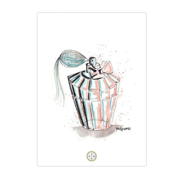 Postkarte - Parfume d'aqua