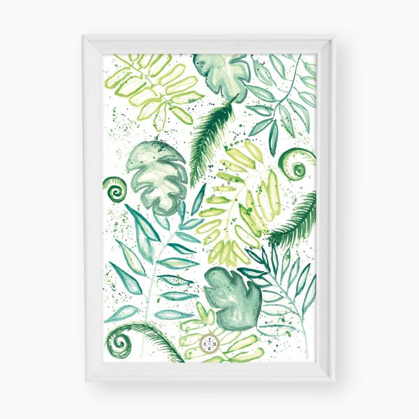 Artprint - Palmleaves