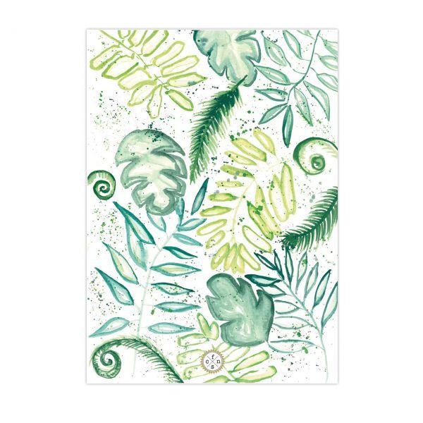 Postkarte - Palmleaves