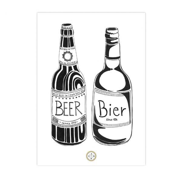 Postkarte - Beer