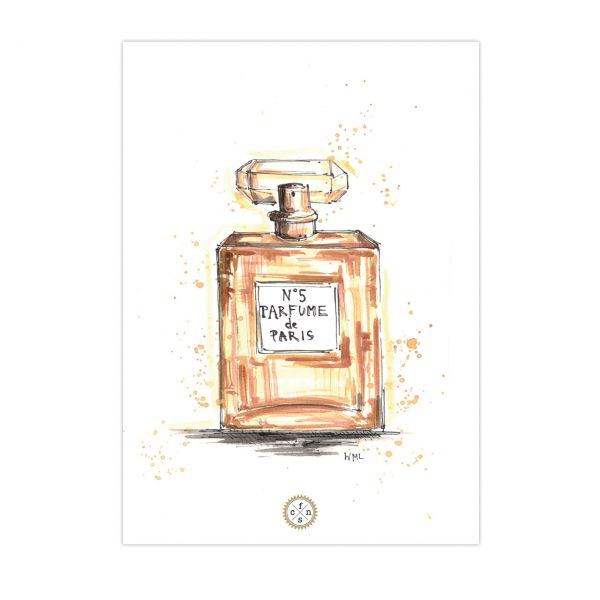 Postkarte - Parfume de Paris